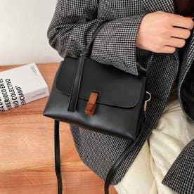 トレロショルダーバッグ 斜め掛け 2way 鞄 (ブラック)