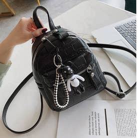リュック レディース ミニリュック リュックサック ファッション 可愛い ショルダーバッグ おしゃれ 通勤 通学 (ブラック)