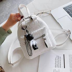 リュック レディース ミニリュック リュックサック ファッション 可愛い ショルダーバッグ おしゃれ 通勤 通学 (ホワイト)