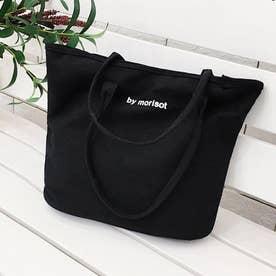 キャンバス トートバッグ 韓国風 A4バッグ (ブラック)