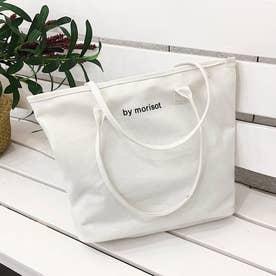 キャンバス トートバッグ 韓国風 A4バッグ (ホワイト)
