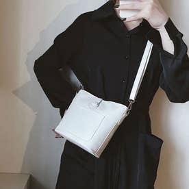 ショルダーバッグ レディース PUレザー 肩掛けバッグ 小さめ 軽量 斜め掛けバッグ ミニバケツバッグ 人気 かばん フェイクレザー (ホワイト)