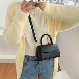 ショルダーバッグ ハンドバッグ レディース PU レザー 鞄 カバン 肩掛け 手持ち 韓国 シンプル (ブラック)