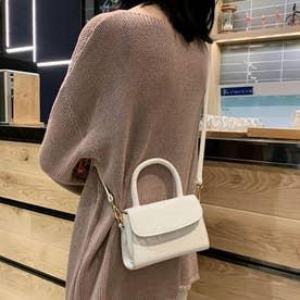 ショルダーバッグ ハンドバッグ レディース PU レザー 鞄 カバン 肩掛け 手持ち 韓国 シンプル (アイボリー)