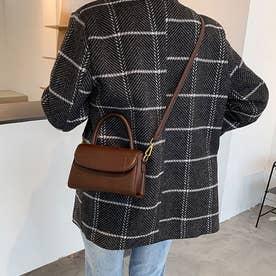ショルダーバッグ ハンドバッグ レディース PU レザー 鞄 カバン 肩掛け 手持ち 韓国 シンプル (ブラウン)