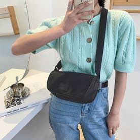 ショルダーバッグ レディース 軽い 鞄 (ブラック)