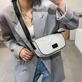 ショルダーバッグ レディース 軽い 鞄 (ホワイト)