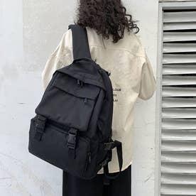リュック リュックサック レディース 大容量 シンプル 通勤通学 おしゃれ 男女兼用 旅行 (ブラック)