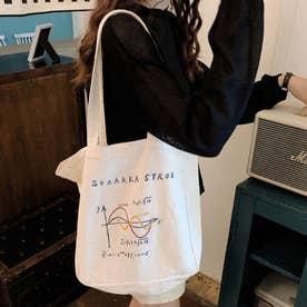 トートバッグ レディース 2way 鞄 肩掛けバッグ ハンドバッグ 旅行 通学 エコバッグ サブバッグ (ホワイトA)