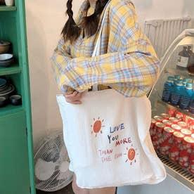 トートバッグ レディース 2way 鞄 肩掛けバッグ ハンドバッグ 旅行 通学 エコバッグ サブバッグ (ホワイトB)
