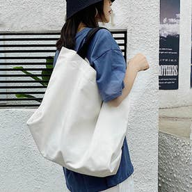 キャンパス 大きい ハンドバッグ 大容量 レディース 手提げ 鞄 メンズ 通勤通学 オールシーズン ショッピングバッグ (ホワイト)