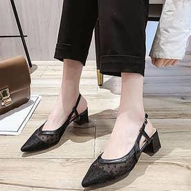 サンダル レディース 韓国ファッション (ブラック)