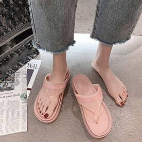 ビーチサンダル 厚底 ビーサンおしゃれ (ピンク)