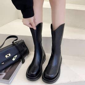 ロングブーツ ブーツレディース 靴 (ブラック)