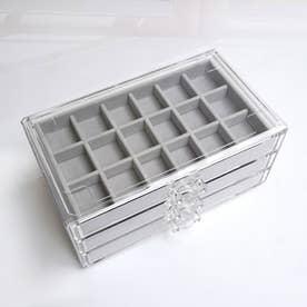アクセサリーケース レディース 引き出し式 ジュエリーケース 3段 大容量 アクセサリーボックス 小物入れ 収納ケース 指輪 (グレー)