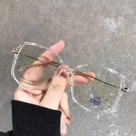 PCメガネ レディース メンズ 眼鏡 ブルーライトカット メガネ 超軽量 輻射防止 おしゃれ メガネ ミラー小物 PCグラス 度なし (透明)