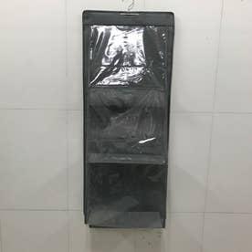 カバン収納 ウォールポケット 省スペース クローゼット収納 両面収納 壁掛け収納袋 吊り下げ収納ポケット 整理ポケット 崩れ防止 (グレー)