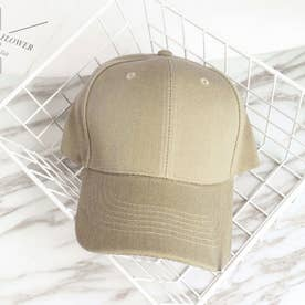 キャップ レディース メンズ ローキャップ-ツバあり カーブキャップ 帽子 スポーツ 無地 CAP おしゃれ 男女兼用 野球帽 (キャメル)