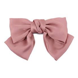 ヘアアクセサリー リボン バレッタ 大きい ヘアアクセサリー バレッタ 卒業式 (ピンク)