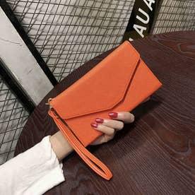 パスポート チケットケース 財布 薄型 (オレンジ)