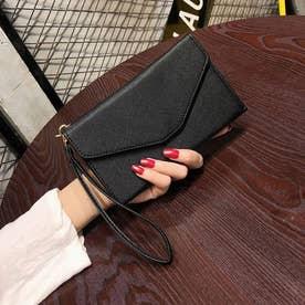 パスポート チケットケース 財布 薄型 (ブラック)