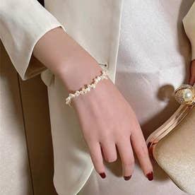 パールブレスレット 不規則 腕飾り韓国 (ホワイト)