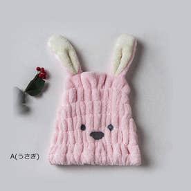ヘアキャップ レディース 子供 帽子 (A(うさぎ)*ピンク)