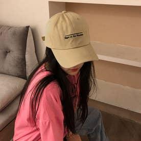 帽子 レディース つば広 キャップ 深め (ベージュ)