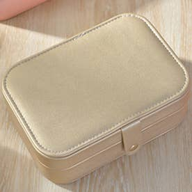 アクセサリーケース ミニ 収納ケース 携帯 (ゴールド)