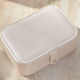 アクセサリーケース ミニ 収納ケース 携帯 (アイボリー1)