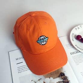 レディース メンズ 帽子 キャップ カーブキャップ ロゴ 刺しゅう おしゃれ 帽子 かっこいい CAP 韓国ファッション (オレンジ)