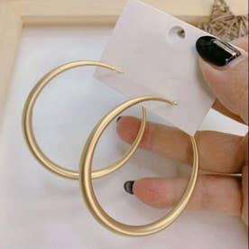 幾何学模様ピアス レディース おしゃれ スクエアピアス フープピアス シンプル サークルピアス 結婚式 アクセサリー ゴールド (A(サークル型))