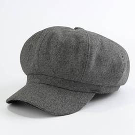キャスケット レディース 秋冬 帽子 キャップ 無地 防寒 ハンチング帽 つば付き 小顔効果 帽子 おしゃれ きれいめ (グレー)