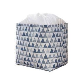 布団収納袋 衣類収納袋 衣替え収納ボックス 羽毛布団 引越しやシーズンオフに役たつ 折りたたみ 押入れ収納袋 クローゼット収納 (ブルー)