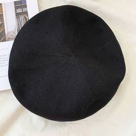 ベレー帽 レディース ベレーキャップ (ブラック)