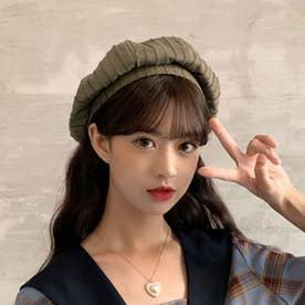 ベレー帽 レディース おしゃれ 帽子 小顔効果 シンプル ハット帽子 大人 サイズ調整 かぼちゃベレー カジュアル キャップ (カーキ)