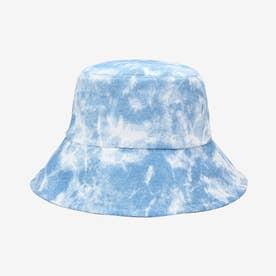 バケットハット タイダイ柄 紫外線対策 (ブルー)