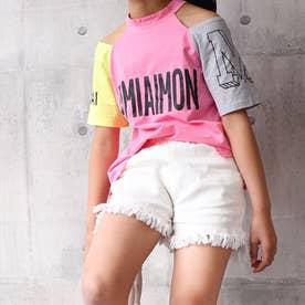女の子 デニム ショートパンツ 韓国 子供 (ホワイト)