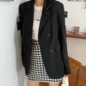 テーラード ジャケット レディース ライトアウター カジュアル スーツジャケット きれいめ オフィス アウター 通勤 OL (ブラック)