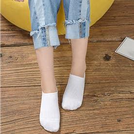 靴下 レディース 滑りにくい ソックス 浅履き フットカバー 無地 インソックス 婦人 (ホワイト)