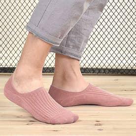 靴下 レディース 滑りにくい ソックス 浅履き フットカバー 無地 インソックス 婦人 (薄ピンク)