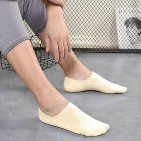 靴下 レディース 滑りにくい ソックス 浅履き フットカバー 無地 インソックス 婦人 (薄イエロー)