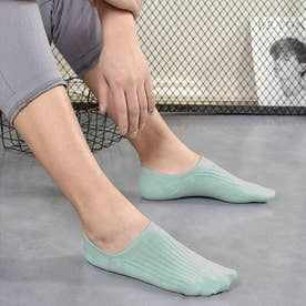 靴下 レディース 滑りにくい ソックス 浅履き フットカバー 無地 インソックス 婦人 (薄ブルー)