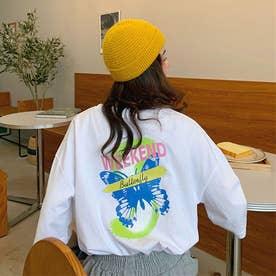 Tシャツ レディース 韓国 ロゴ 半袖 (ホワイト)