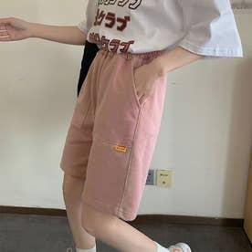 ショートパンツ スウェットパンツ韓国 (ピンク)