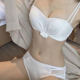 ブラジャーショーツセットノンワイヤー【返品不可商品】 (ホワイト)
