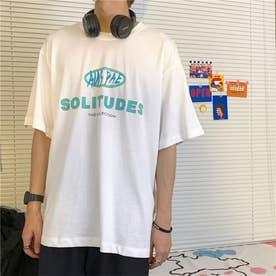 カップル tシャツ カジュアル 韓国 (メンズ*ホワイト)
