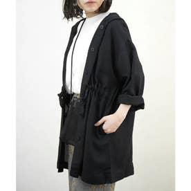 リネンミックスドロストフード付きジャケット (スミクロ(159))