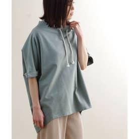 ミニ裏毛ルーズハイネックドルマンプルオーバー ルームウェア (ライトグリーン(93)(21174001))
