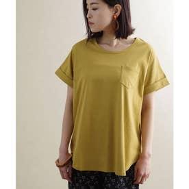 ポケット付き裾ラウンドTシャツ ルームウェア (マスタード(30)(21199002))